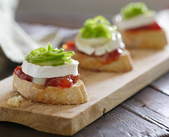 Tosta brie y tomate
