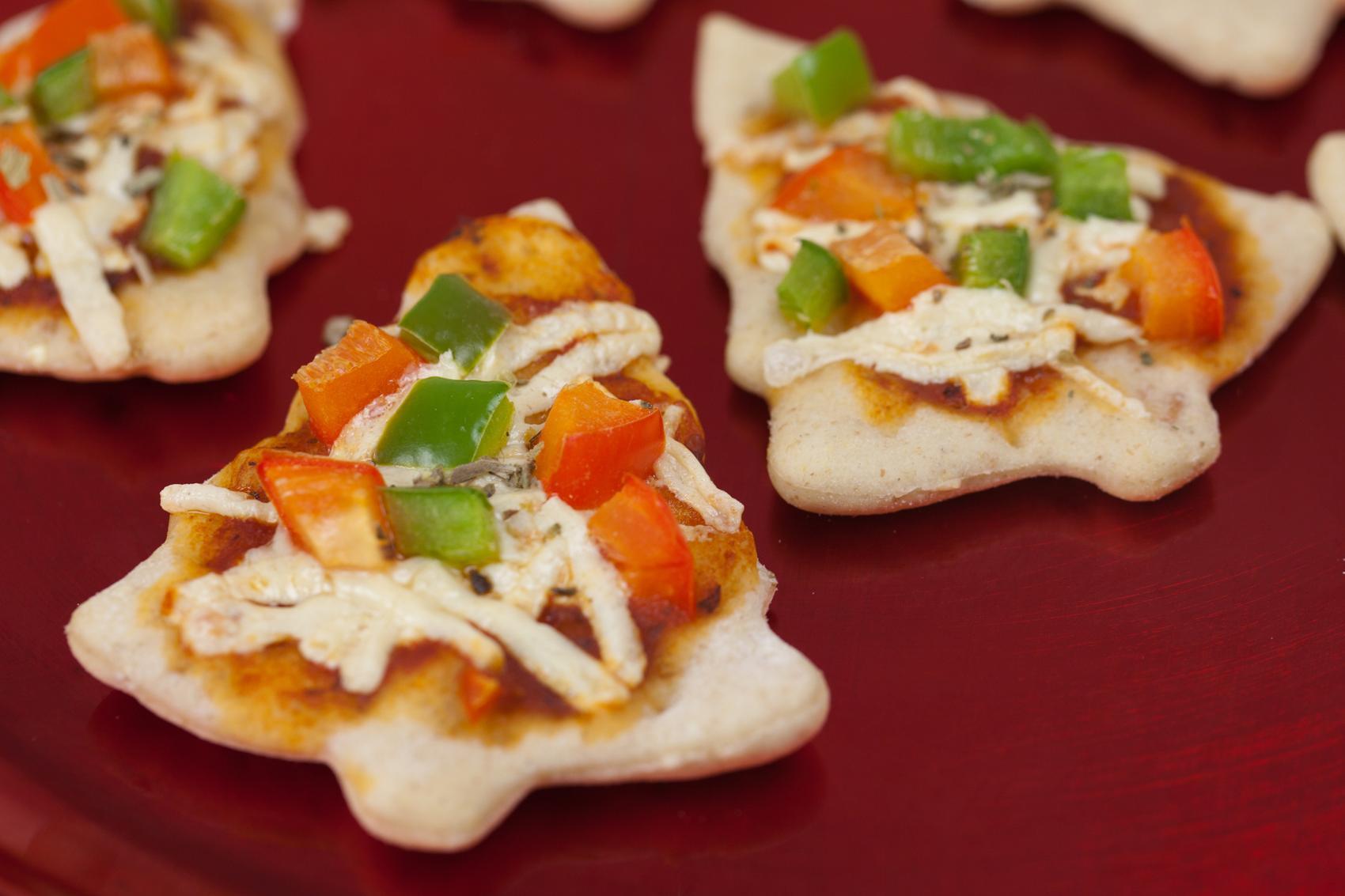 Mini pizzas arbolitos