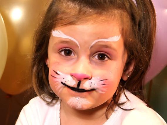 Pintacaras de Gatito para niños y niñas