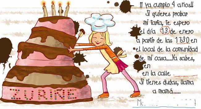 Invitaciones De Cumpleaños Personalizadas De Maria Te Pinta
