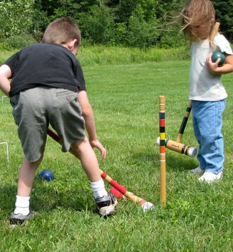 Juego del Croquet para jugar con los niños en el jardín ...