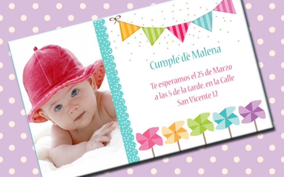 Invitaciones De Cumpleaños Con Foto Para Imprimir Charhadas