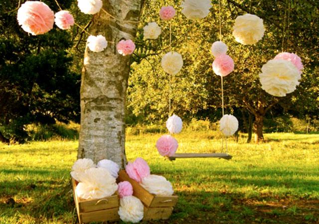 Pompones Para Fiestas Y Cumples Charhadas