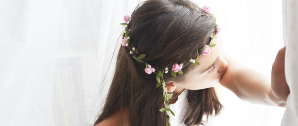 comunion coronas para el pelo