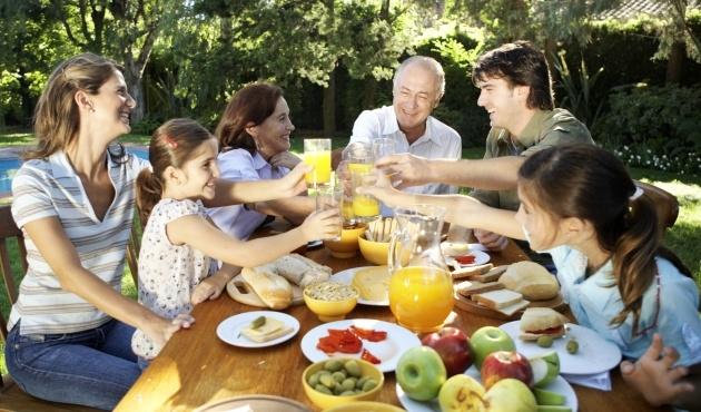 vida saludable en familia