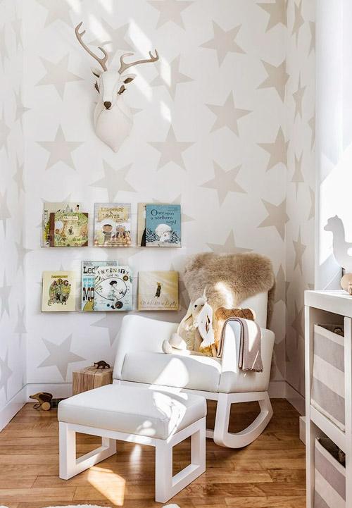 decoración infantil con estrellas