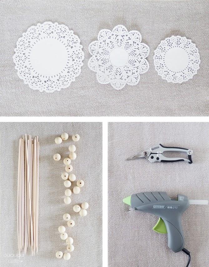 DIY arbolitos de blondas