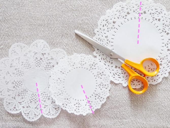DIY blondas de papel fiesta Frozen