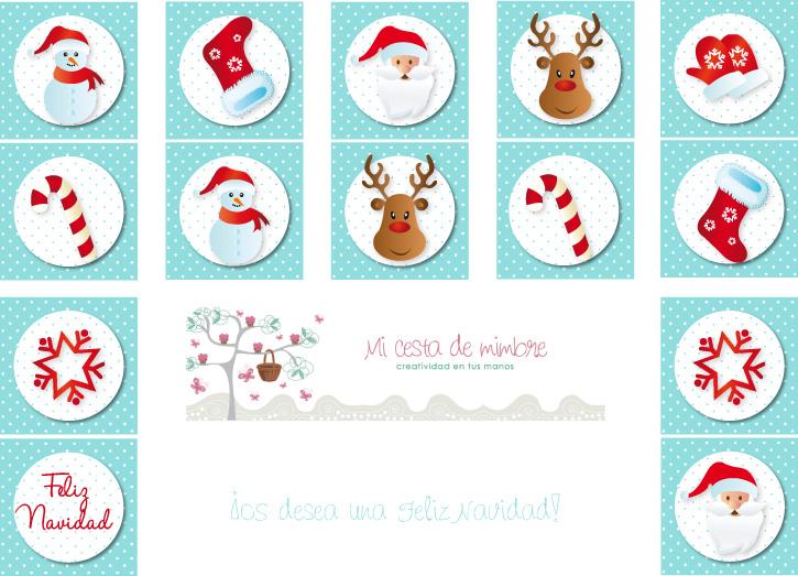 Imagenes De Motivos Navidenos Para Imprimir.Como Hacer Un Domino Con Motivos De Navidad Charhadas