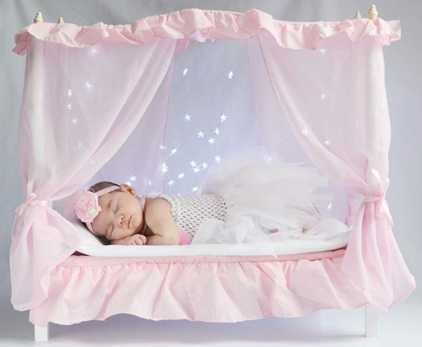 cama dosel fotos bebes recien nacidos decorados atrezzo