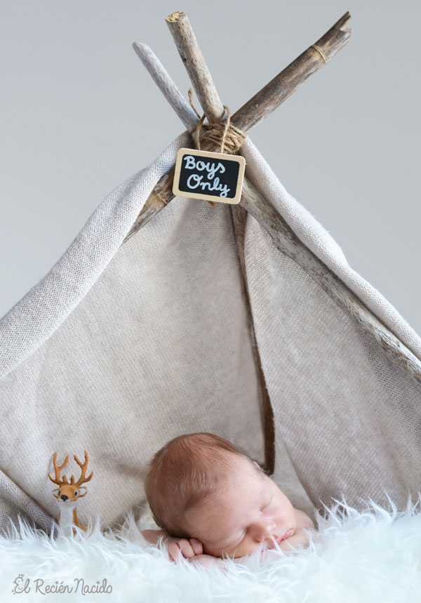 Fotografías Bebés y Recién Nacidos Atrezzo sesiones fotos Invierno El Recién nacido
