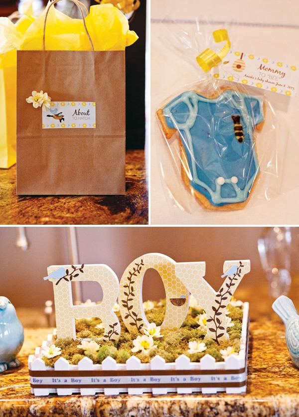 Baby shower con letras 15