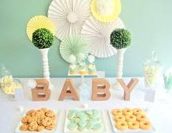 Baby shower con letras 14