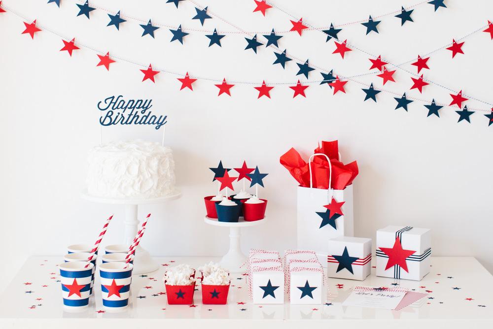 decoración cumpleaños estrellas