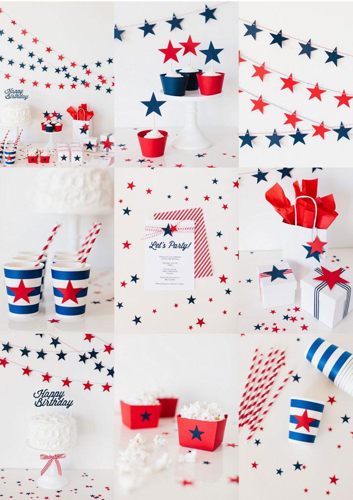 decoracion fiesta estrellas