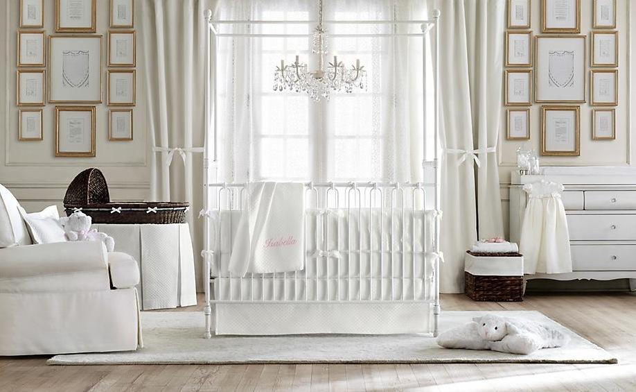 Dormitorios de bebes con glamour 13