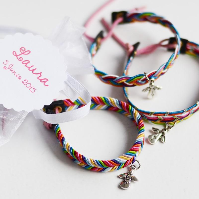 Pulseras colores angelito Comuniones Limonae regalos originales niñas niños