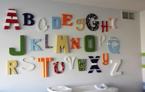 Letras de madera abecedario 5