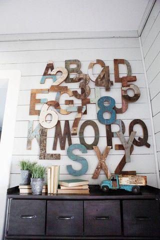 Letras de madera abecedario 7