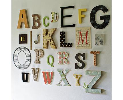 Letras de madera alfabeto 1