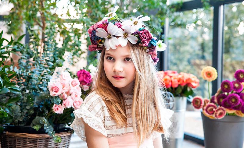 Coronas flores peinados pelo niñas comuniones Sally Hambleton