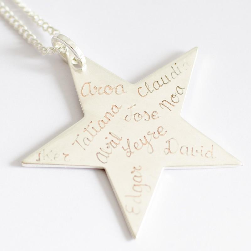 Collar estrella Joyas personalizadas Regalos originales profesoras maestras Limonae