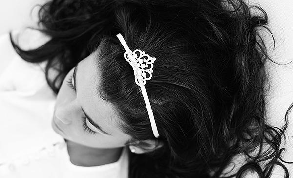 Cinta Corona Tocado Diadema Adornos Peinados Niñas Comuniones El Recién Nacido