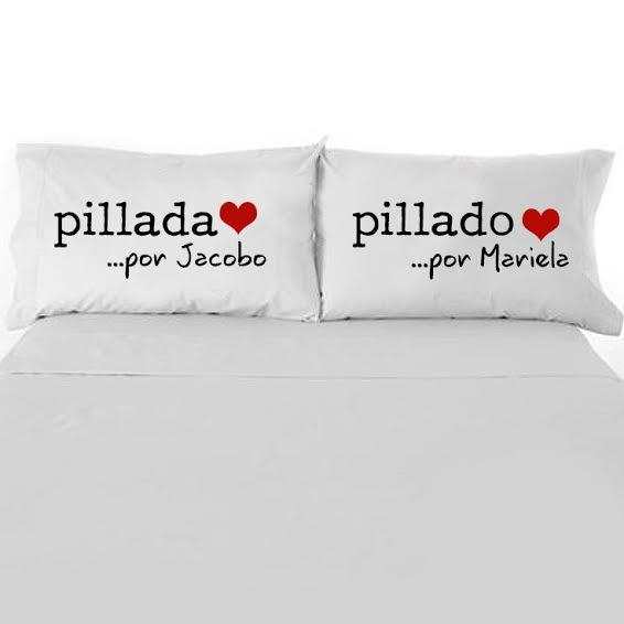 Funda Almohada Pillados parejas Enamorados San Valentín Limomae Regalos originales personalizados