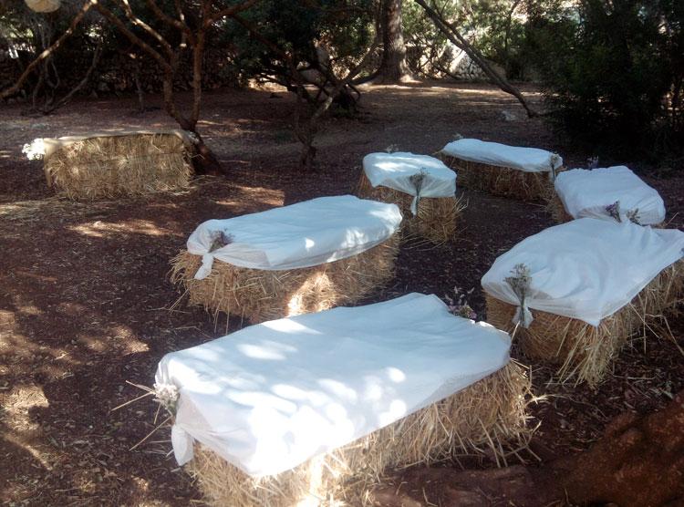 balas de paja decoración bodas