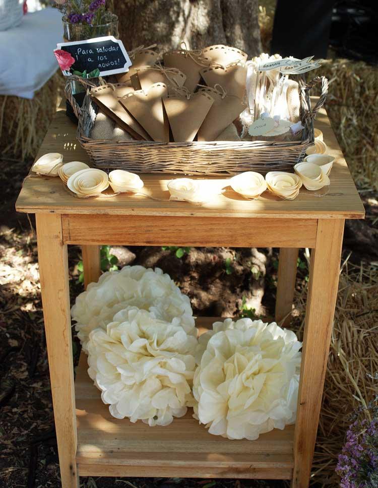 detalles decoración boda rústica