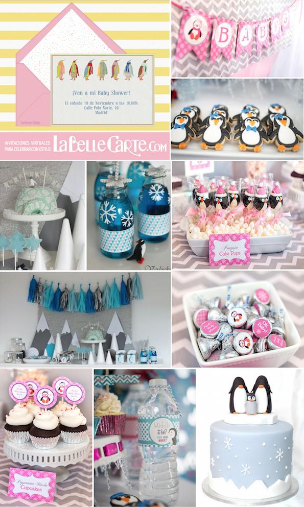 Invitaciones-para-Baby-Shower-Invitaciones-de-Baby-Shower-Fiesta-de-pinguinos-Baby-shower-de-pinguinosLaBelleCarte-La-Belle-Carte