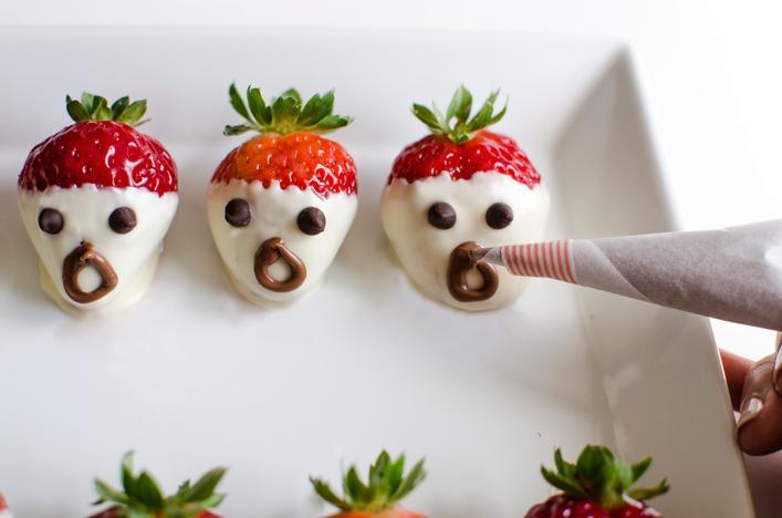 Receta de fresas terroríficas para Halloween