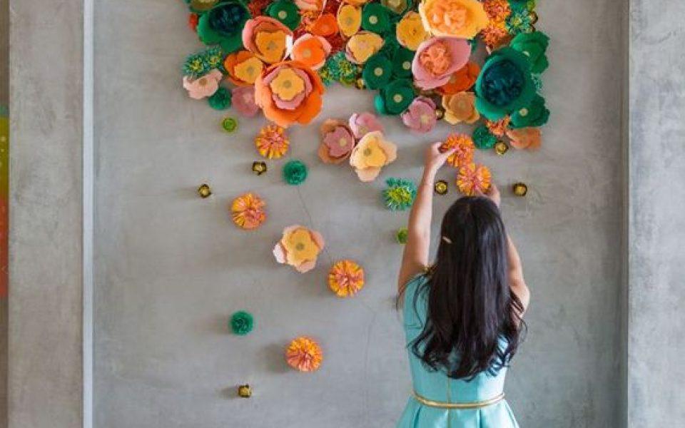 Decoracion De Paredes Con Flores De Papel Y Rollos De Carton Charhadas