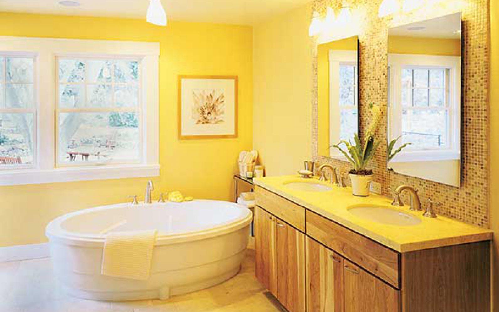 El color en los cuartos de baño - CharHadas