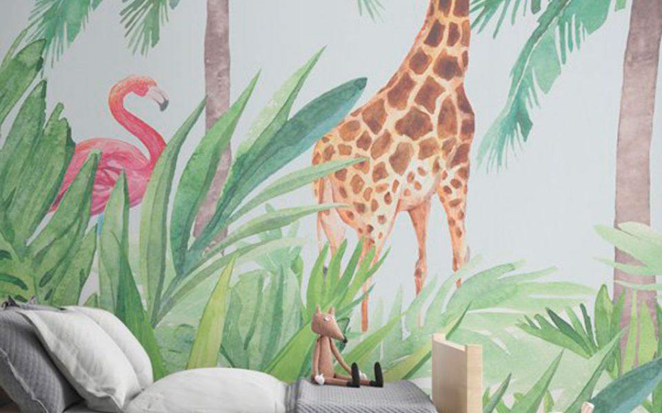 Papeles pintados veraniegos para el dormitorio infantil - Papeles pared infantiles ...