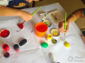 Pintando con los peques de PiedraCreativa