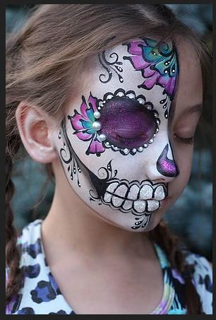 Un maquillaje de catrina para niña este Halloween - CharHadas